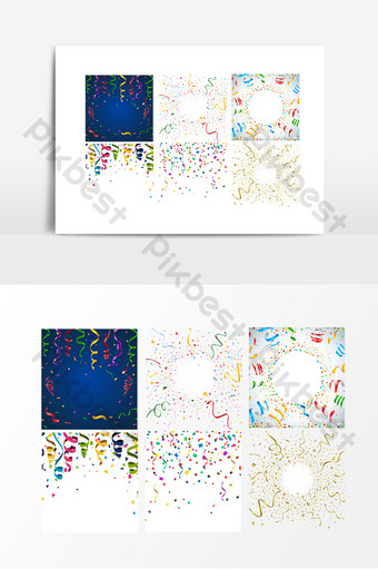 vector de cinta de color decoración de eventos navideños Elementos graficos Modelo AI
