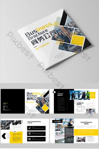 Album de profil d'entreprise de construction urbaine Modèle AI