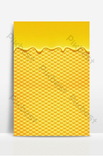 Żółty słodki miód płynny plaster miodu tekstura tło dla smakoszy Tła Szablon PSD