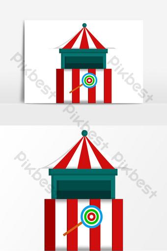 elemento de ilustración de tienda de parque de atracciones Elementos graficos Modelo PSD