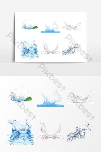 水濺效果元素 元素 模板 PSD
