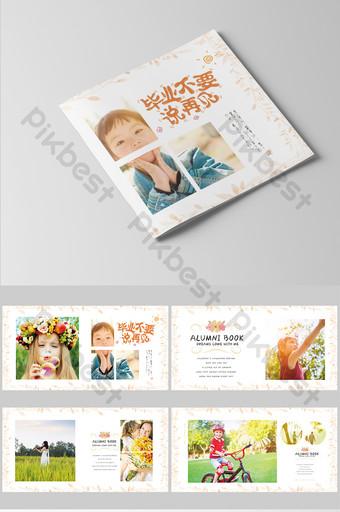 مجموعة كاملة من كتيب صور التخرج للأطفال الصغار الطازجة والبسيطة قالب PSD