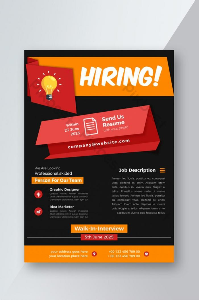 recruitment style job vacancy flyer