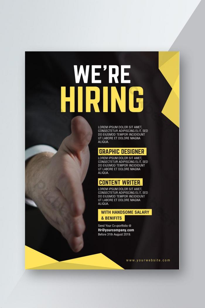corporate we are hiring job recruitment flyer