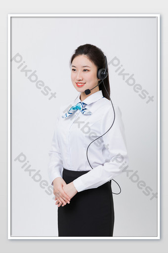 Customer Service Operator Smiling Professional Image Photography Picture Photo Template JPG