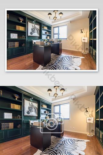Carte de photographie à la maison d'étude américaine rétro et élégante La photographie Modèle JPG