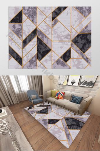 現代北歐三角幾何印花臥室客廳地毯圖案 裝飾·模型 模板 PSD