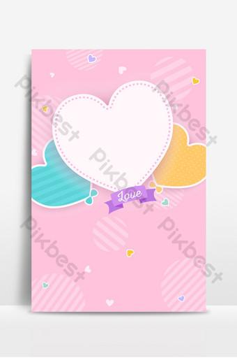 dibujado a mano dibujos animados románticos en forma de corazón linda línea fondo hermoso Fondos Modelo PSD
