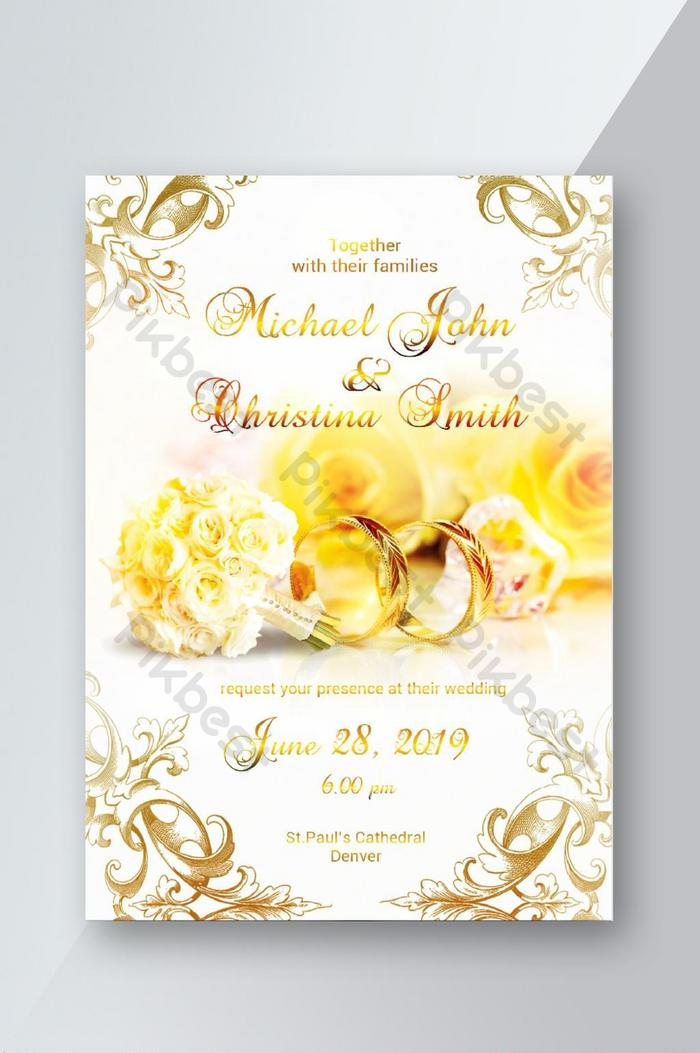 Wedding Invitation Card Psd Free Download Pikbest