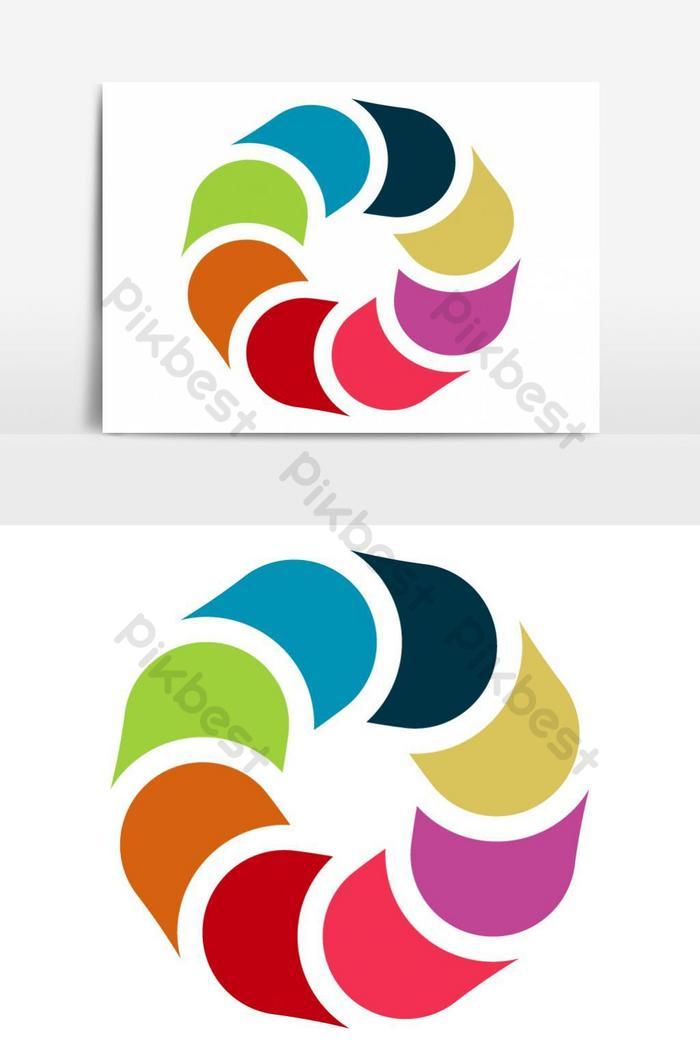Logo kết nối nhóm đồ họa Vector Element Element   Công cụ đồ họa mẫu