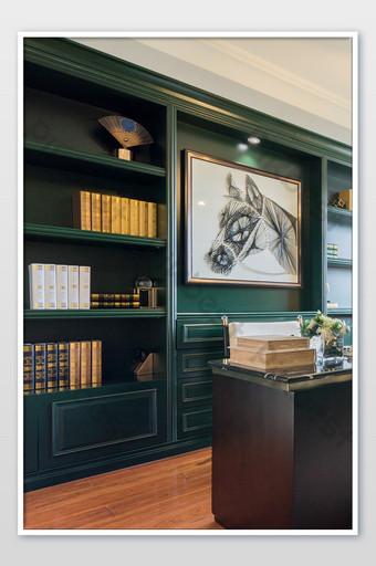Carte de photographie à la maison d'étude de l'immobilier rétro américain La photographie Modèle JPG