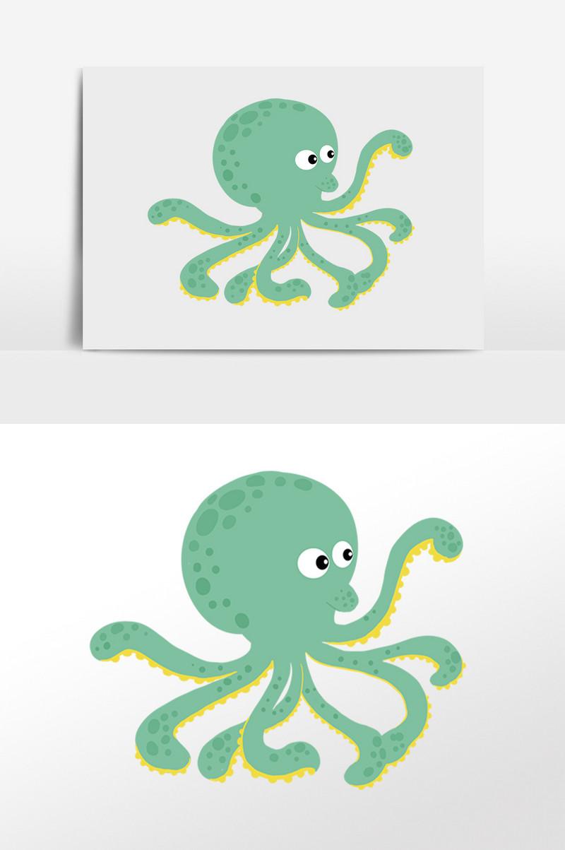 Menggambarkan Kehidupan Laut Kartun Imej Psd Dan Vektor