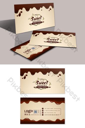 Carte De Visite Atelier de pâtisserie de pâtisserie au chocolat haut de gamme Modèle PSD