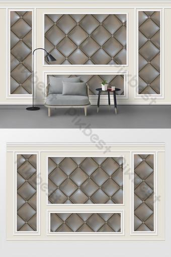الأزياء الأوروبية الفاخرة تنقش خط الجص لينة حزمة غرفة المعيشة خلفية الجدار الديكور والنموذج قالب PSD