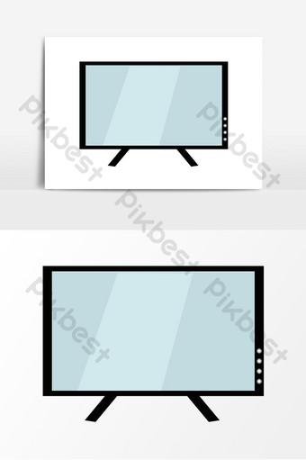 elementos de vector de pantalla de tv de computadora Elementos graficos Modelo AI