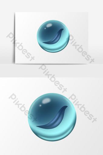 детский день милые детские игрушки элементы бесплатная кнопка синий стеклянный шарик Графические элементы шаблон PSD