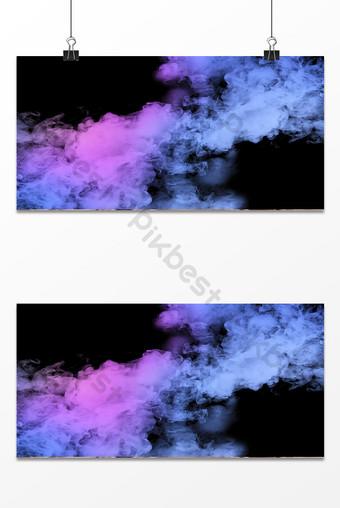 cartel de fondo de humo degradado púrpura azul simple Fondos Modelo PSD