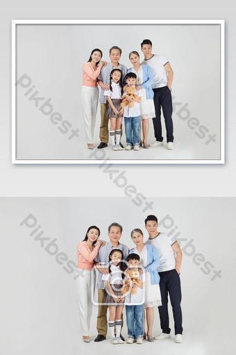 يوم عائلي دافئ صورة عائلية التصوير قالب JPG