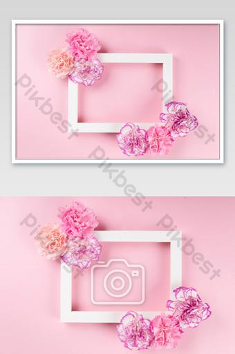 الوردي زهرة القرنفل الديكور إطار الصورة التصوير قالب JPG