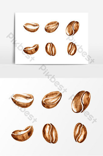 Coffee Bean Vector Templates Psdvectorspng Images Free