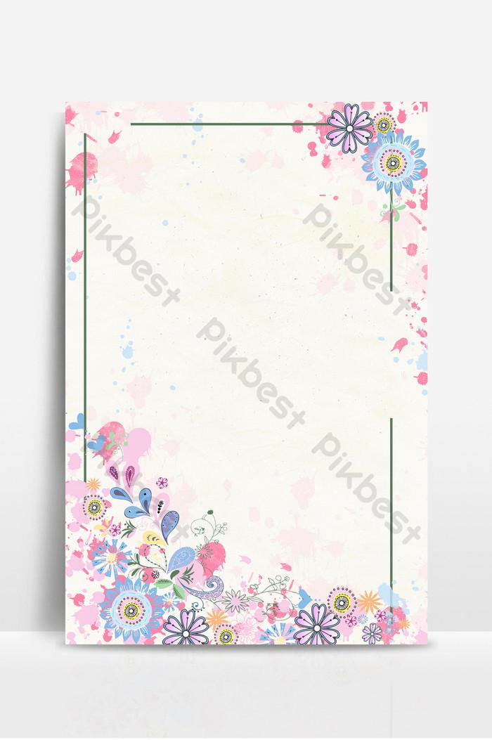 الزهور نمط الأدبية الطازجة وخلفية ورقة ترويسة ملونة خلفيات Psd تحميل مجاني Pikbest