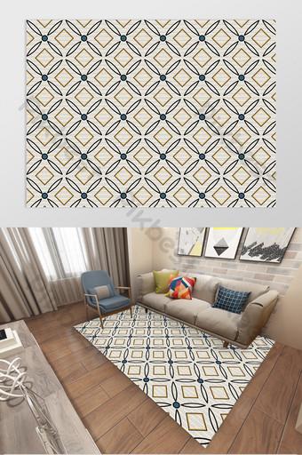 北歐時尚現代輕奢幾何線條客廳臥室地毯圖案 裝飾·模型 模板 PSD