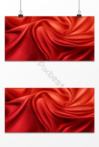 diseño gráfico del elemento del fondo de la seda del paño rojo Fondos Modelo PSD