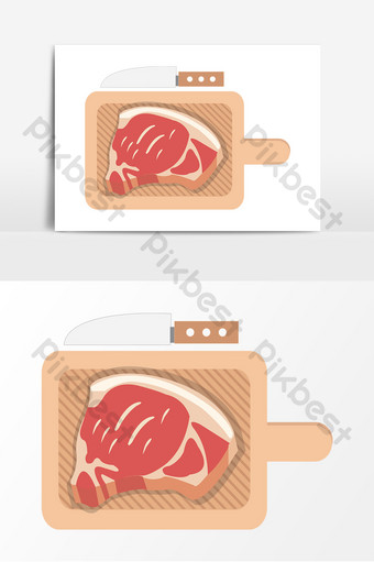 اللحوم ندفة الثلج الخام صحي نباتي يوم سكين لوح تقطيع قطع الطعام الذواقة صور PNG قالب AI