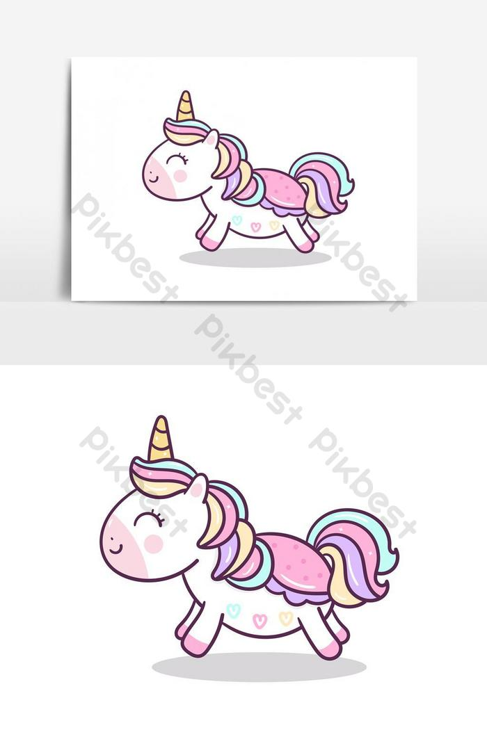 Kartun Unicorn Lucu Poni Kecil Hewan Kawaii Vektor Elemen Grafis Elemen Grafis Templat Ai Unduhan Gratis Pikbest