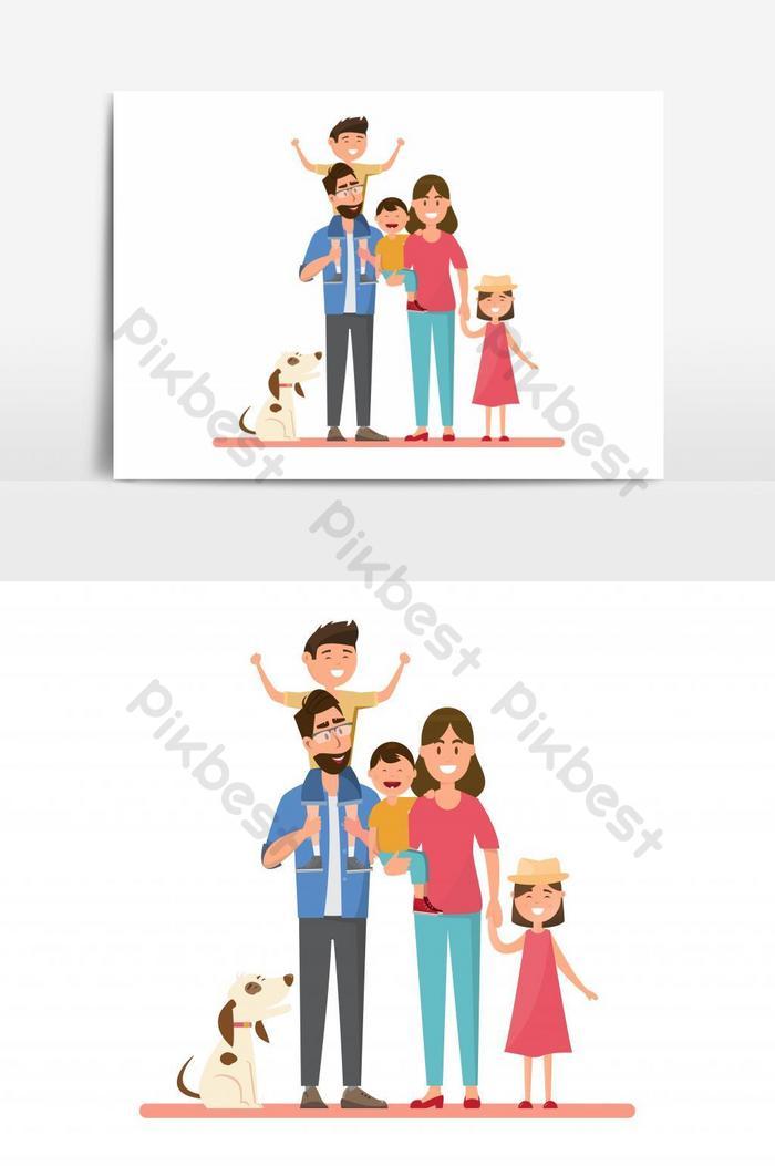 Selamat Keluarga Ayah Ibu Bayi Laki Laki Dan Perempuan Elemen Grafis Vektor Elemen Grafis Templat Eps Unduhan Gratis Pikbest