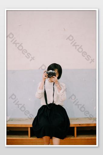 فتاة يابانية صالة للألعاب الرياضية فيلم صور التصوير الفوتوغرافي الصورة التصوير قالب JPG