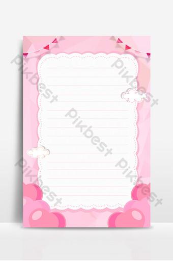 الوردي بطاقة الاتصالات ورقة المغلف الترويج الإعلان ملصق صورة الخلفية خلفيات قالب PSD