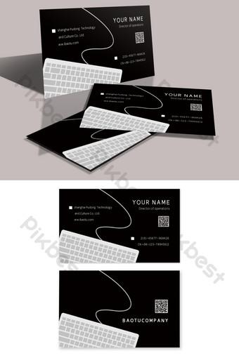 تصميم بطاقة عمل مكتب الكمبيوتر الشخصية الإبداعية الحد الأدنى قالب PSD