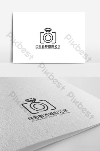 diseño de logotipo de tema de empresa de fotografía de boda simple y elegante Modelo AI