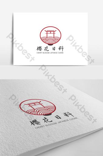 diseño de logotipo retro restaurante japonés tema Modelo AI