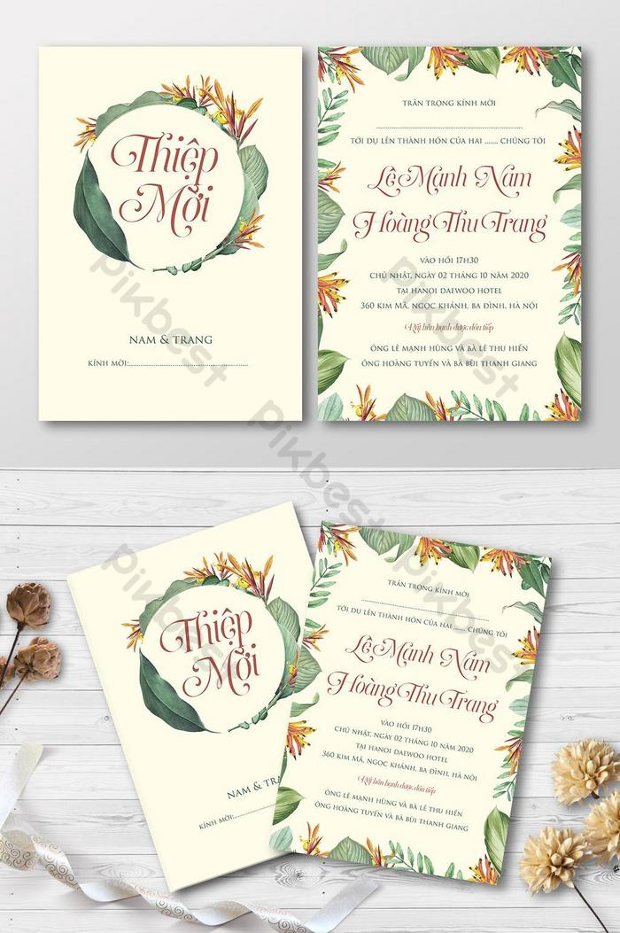 Full Set Beautiful Vintage Tropical Floral Wedding