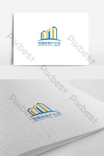 diseño de logotipo de bienes raíces simple y elegante Modelo AI