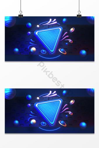 C4D blue simple technology sense e-commerce promotion three-dimensional background Backgrounds Template PSD