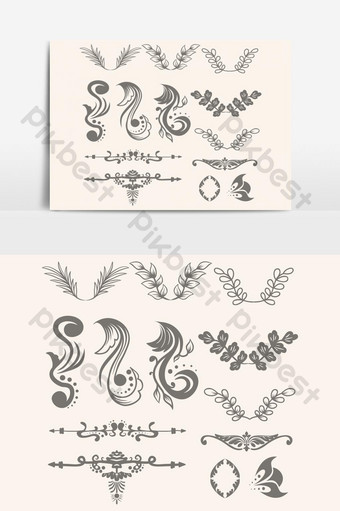 typography ornament templates free psd png vector download pikbest pikbest