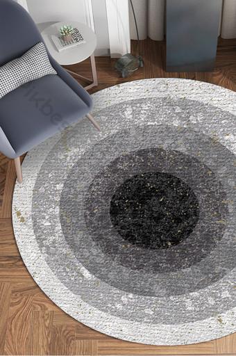 الشمال نمط أبيض وأسود رمادي دائري كتلة اللون نسيج غرفة المعيشة نمط السجاد الديكور والنموذج قالب PSD