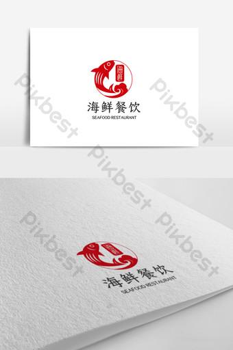 plantilla de diseño de logotipo de restaurante de mariscos simple y elegante Modelo AI