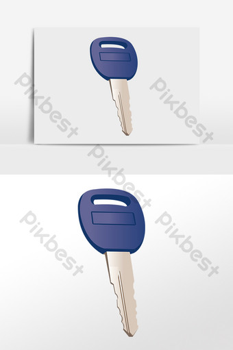 Hand drawn door lock security anti-theft home key illustration PNG Images Template PSD