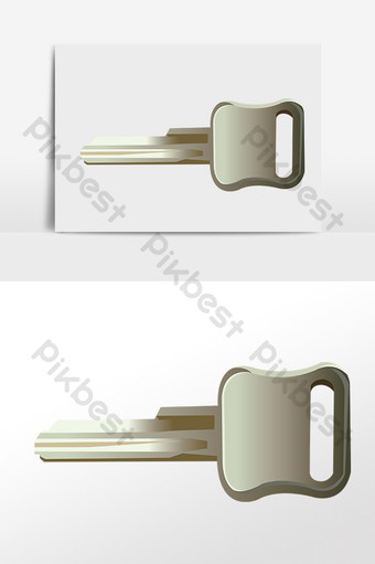 Hand drawn door lock security anti-theft key illustration PNG Images Template PSD