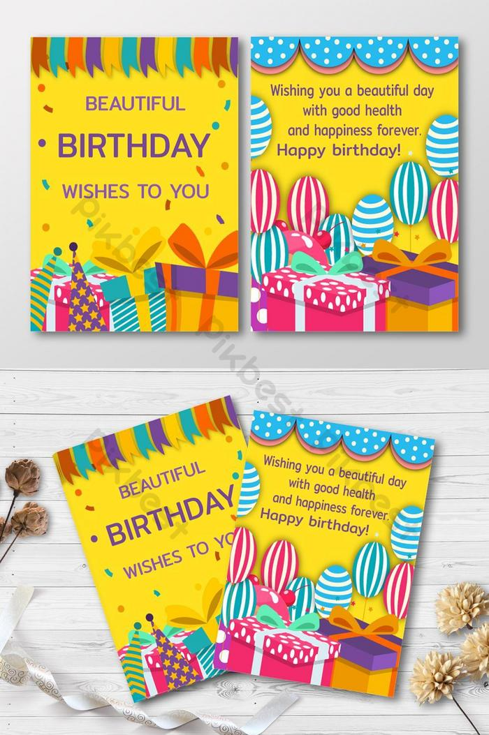 Fine Happy Birthday Card Invitation Ai Free Download Pikbest Funny Birthday Cards Online Fluifree Goldxyz