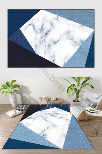 Modern Nordic marble texture geometric line segmentation carpet pattern Decors & 3D Models Template TIF