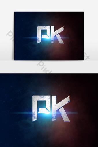 PK creative technology sense font design e-sports battle VS artistic words Template PSD