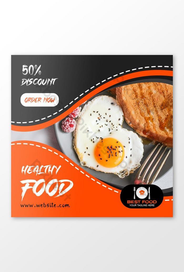Template Spanduk Makanan Psd - contoh desain spanduk
