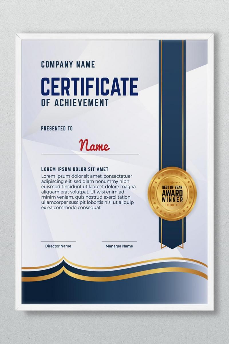 Certificate Templates PSD,Vectors,PNG Images Free Download