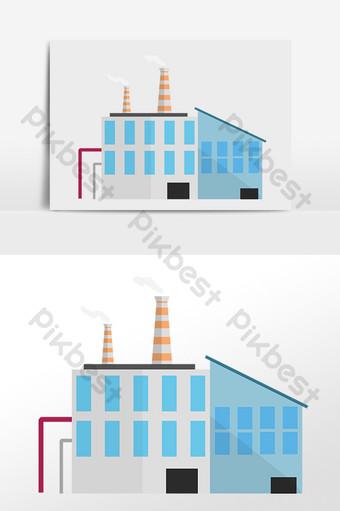 مرسومة باليد مصنع مصنع المنطقة الصناعية الحديثة التوضيح صور PNG قالب PSD