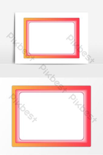 التدرج إطار الصورة الحدود الحمراء تراكب ناقلات ai صور PNG قالب AI